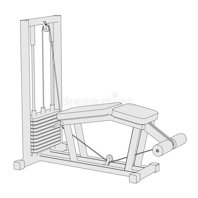 Wizerunek gym maszyna ilustracji