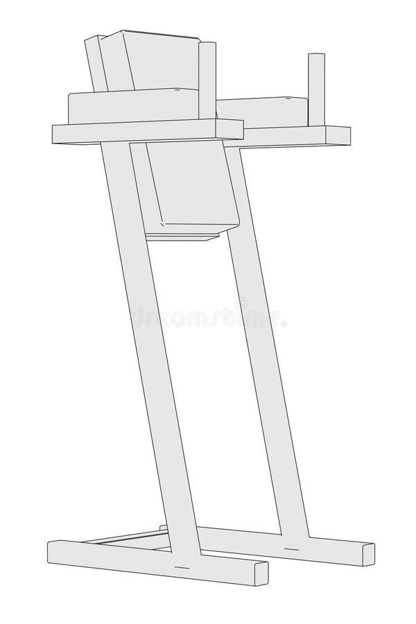 Wizerunek gym maszyna royalty ilustracja