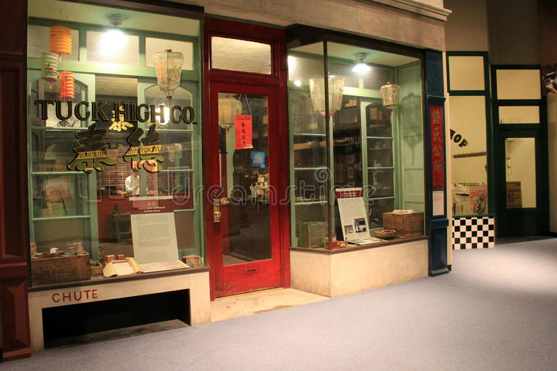 Wizerunek historyczny Chinatown sklep, zakładka High Co stanu muzeum, Albany, 2016 fotografia stock