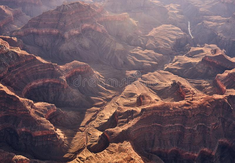 Wizerunek jar w Arizona z rzecznym spływaniem though ja obraz stock