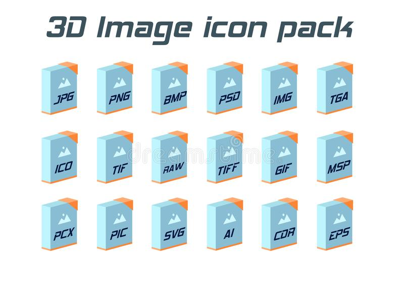 Wizerunek kartoteki formaty Fotografii i graficznej kartoteki typ 3d ikony royalty ilustracja