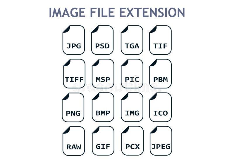 Wizerunek kartoteki formaty Fotografii i graficznej kartoteki typ ikona ilustracja wektor