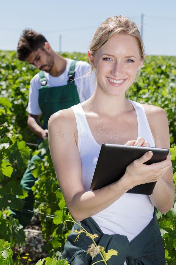 Wizerunek kobieta używa pastylka komputer osobistego obrazy stock