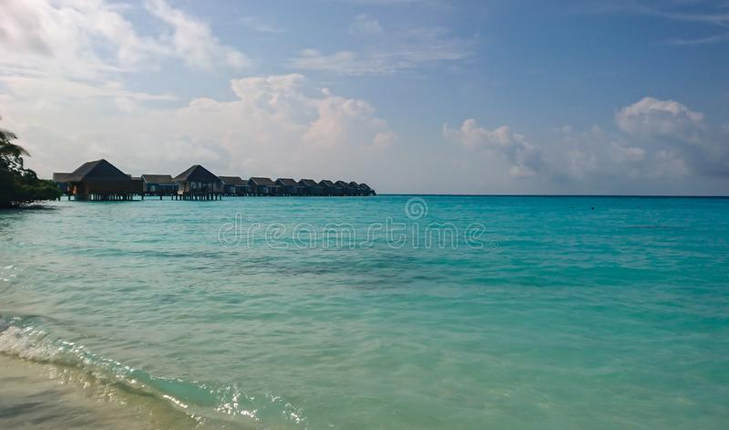 Wizerunek Kuramathi, Maldives wyspa obrazy stock