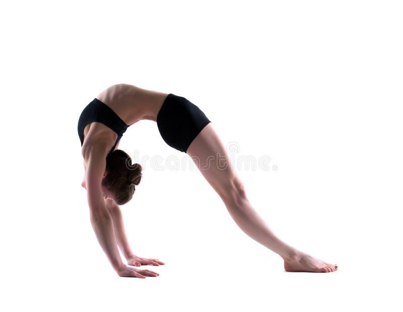 Wizerunek młoda elastyczna dziewczyna odizolowywająca na bielu zdjęcia royalty free