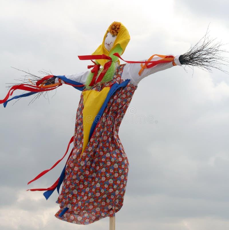 Wizerunek Maslenitsa przed palić (Maslenitsa - tradycyjna sława zdjęcie stock