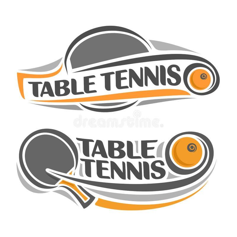Wizerunek na stołowego tenisa temacie royalty ilustracja