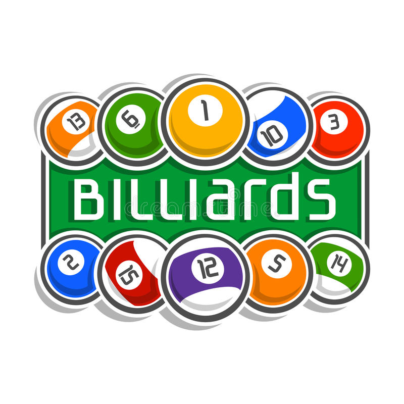 Wizerunek na temat billiards royalty ilustracja