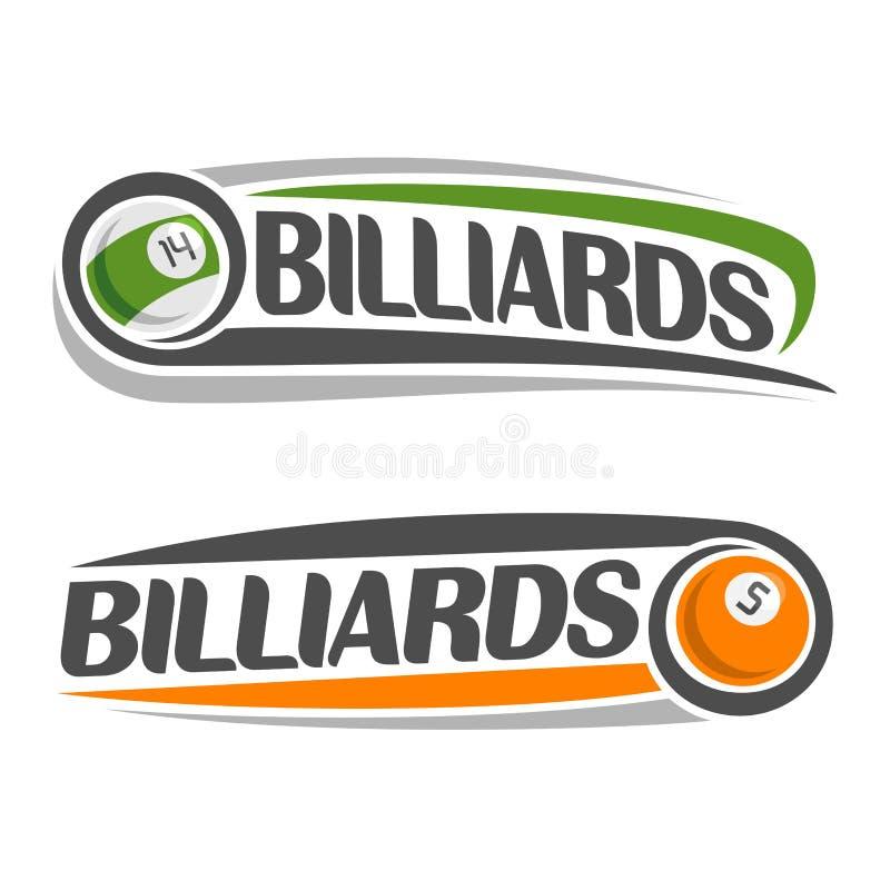 Wizerunek na temat billiards ilustracji