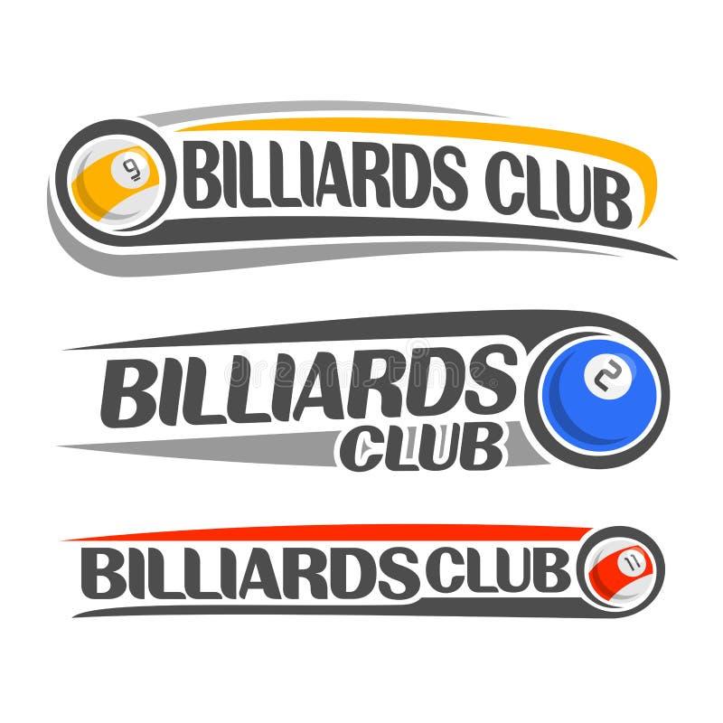 Wizerunek na temat billiards ilustracja wektor