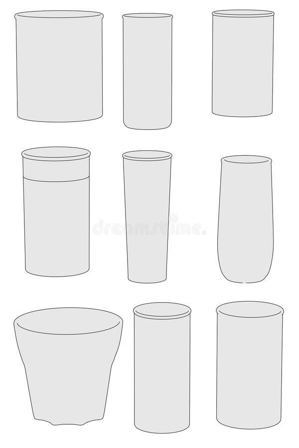 Wizerunek napojów szkła ilustracja wektor