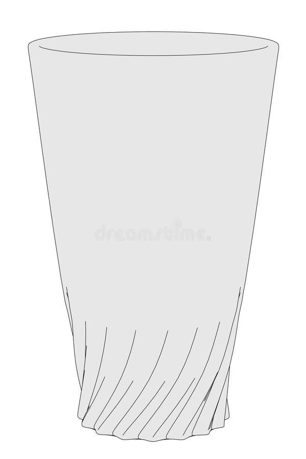 Wizerunek napoju szkło ilustracja wektor