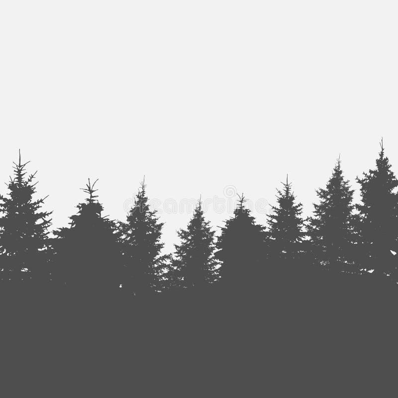 Wizerunek natura kiedy projekt zawiera tekstury sylwetki używa drzew wektor royalty ilustracja