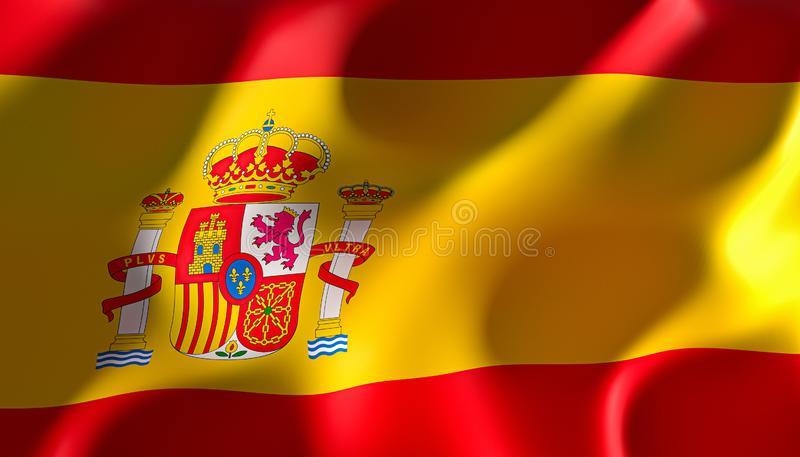 Wizerunek odp?aca si? flaga Spain royalty ilustracja