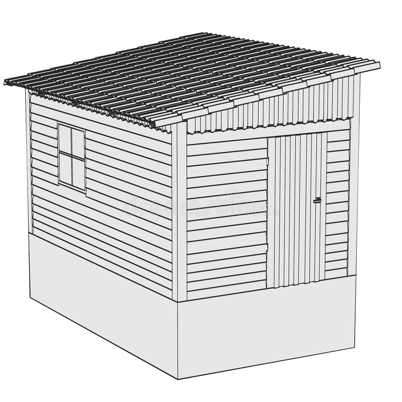 Wizerunek ogrodowa chałupa ilustracja wektor