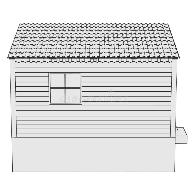 Wizerunek ogrodowa chałupa ilustracji