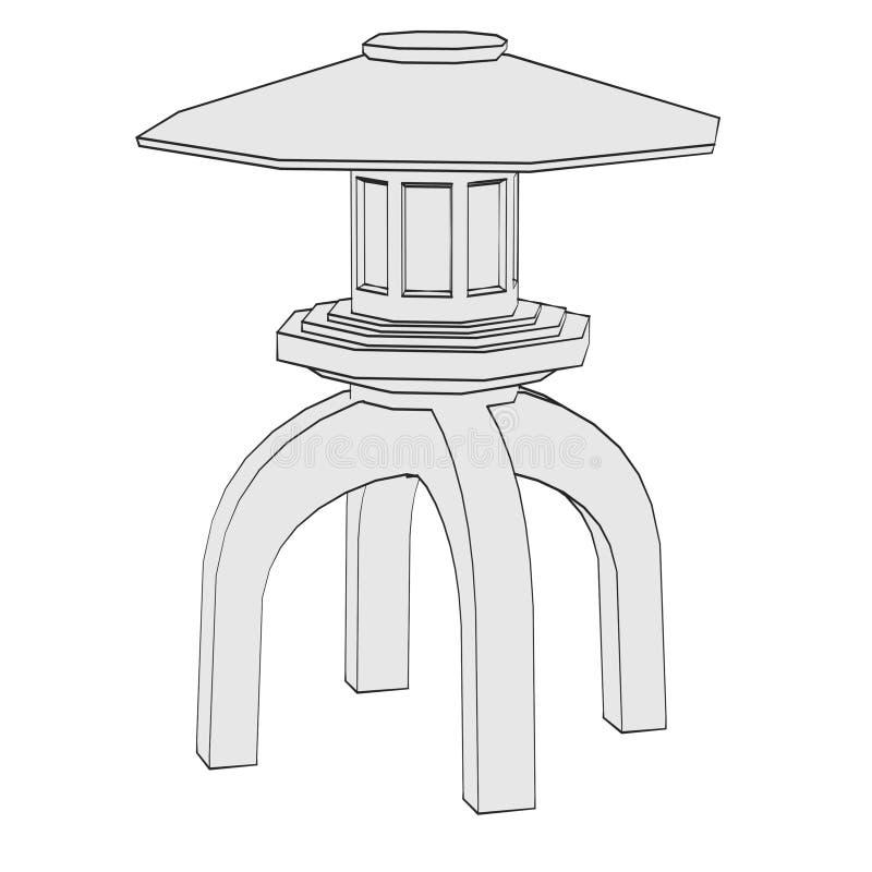 Wizerunek ogrodowa statua royalty ilustracja