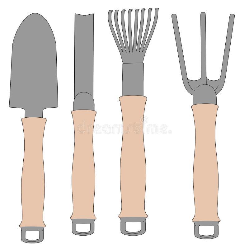 Wizerunek ogrodowi narzędzia ilustracja wektor