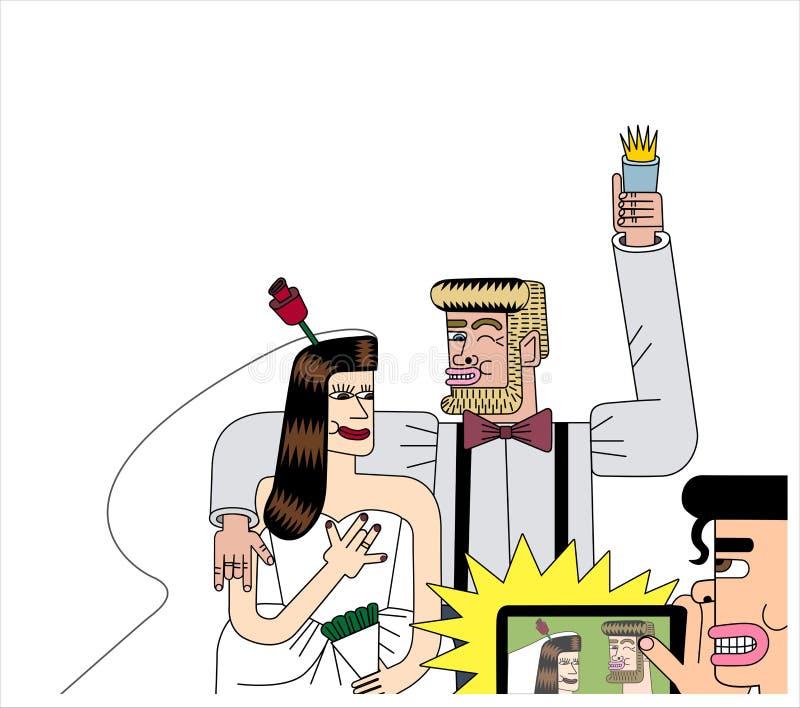 Wizerunek państwo młodzi ilustracji