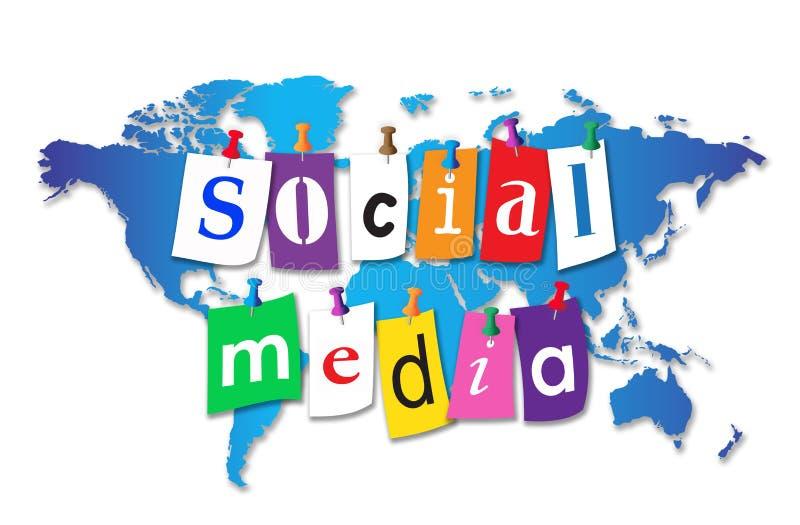 Światowi Ogólnospołeczni środki ilustracja wektor