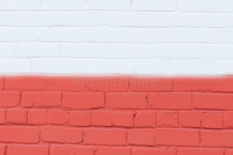 Wizerunek Polska flaga malował na ściana z cegieł w miastowej lokaci obrazy stock