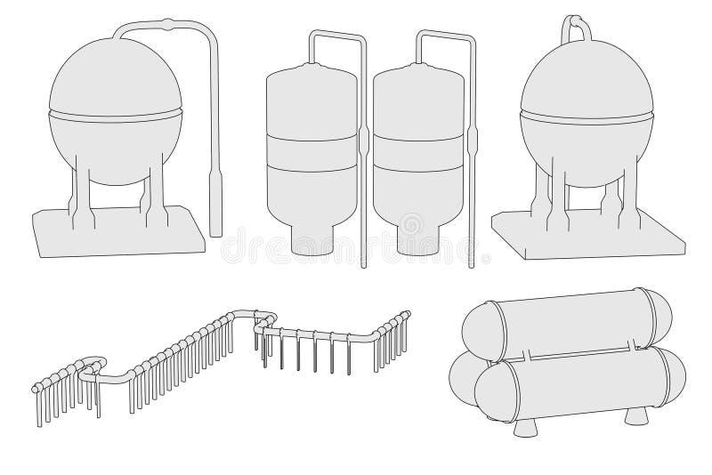Wizerunek przemysłowe części ilustracja wektor