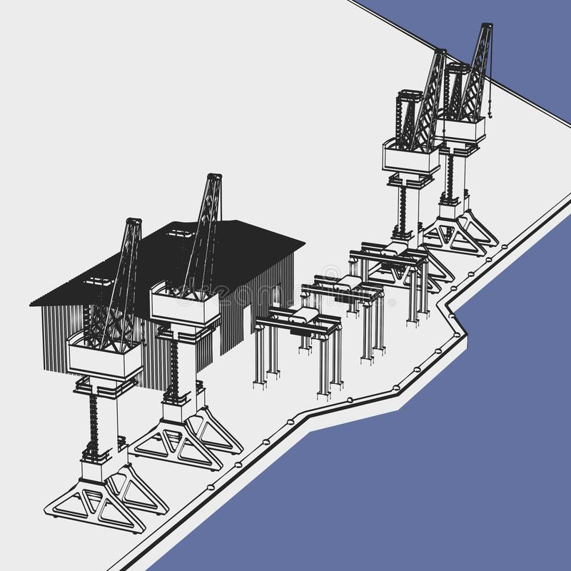 Wizerunek przemysłowy schronienie royalty ilustracja