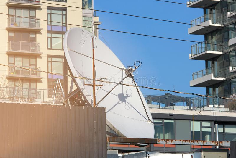 Wizerunek przypowieściowy anteny miasta skype zdjęcie stock