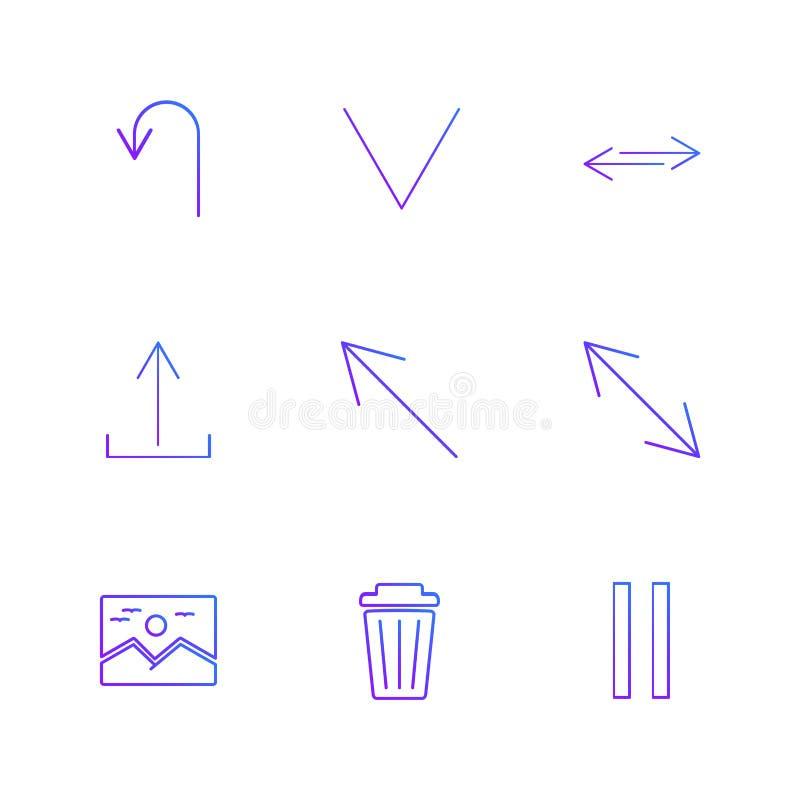 wizerunek, pyłu kosz, fermata, strzała, kierunki, avatar, downlo royalty ilustracja