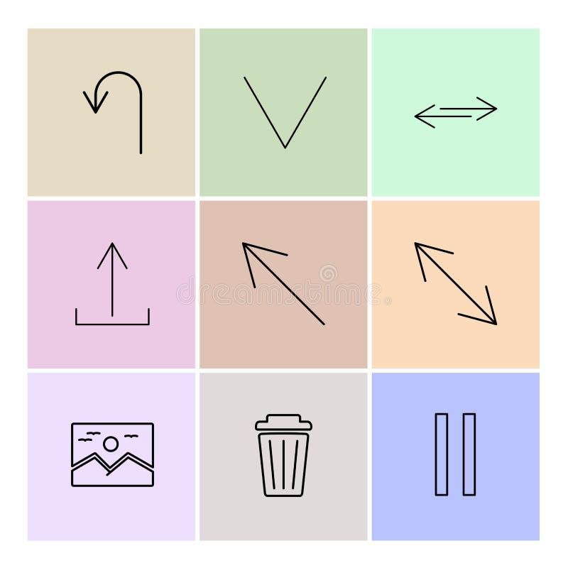 wizerunek, pyłu kosz, fermata, strzała, kierunki, avatar, downlo ilustracji