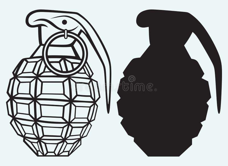 Wizerunek ręczny granat ilustracja wektor