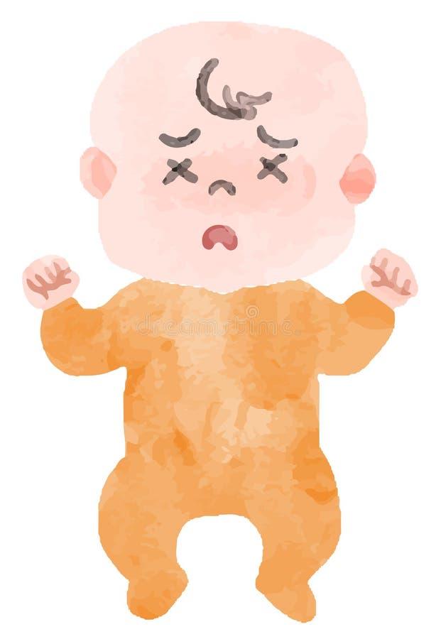 Wizerunek Słaby dziecko ilustracji