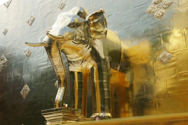 Wizerunek słoń przy Phra Singh świątynią w Chiang Mai obraz stock