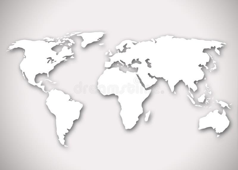 Wizerunek stylizowana światowa mapa obrazy stock