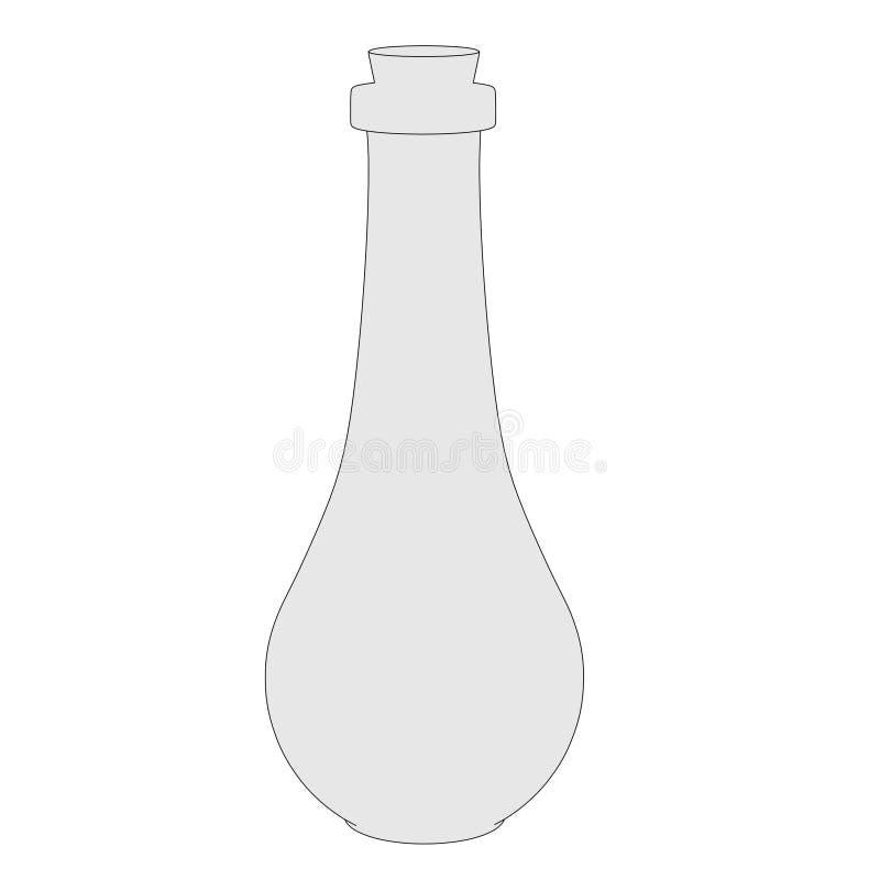 Wizerunek szklana kolba ilustracji