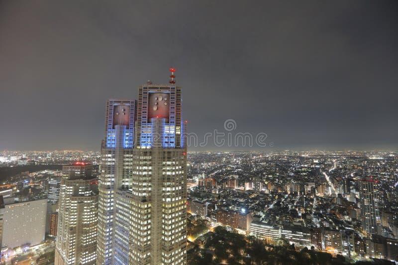 Wizerunek Tokio nocy widok przy Shinjuku zdjęcie royalty free