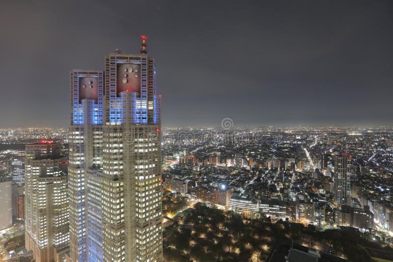 Wizerunek Tokio nocy widok przy Shinjuku obrazy royalty free