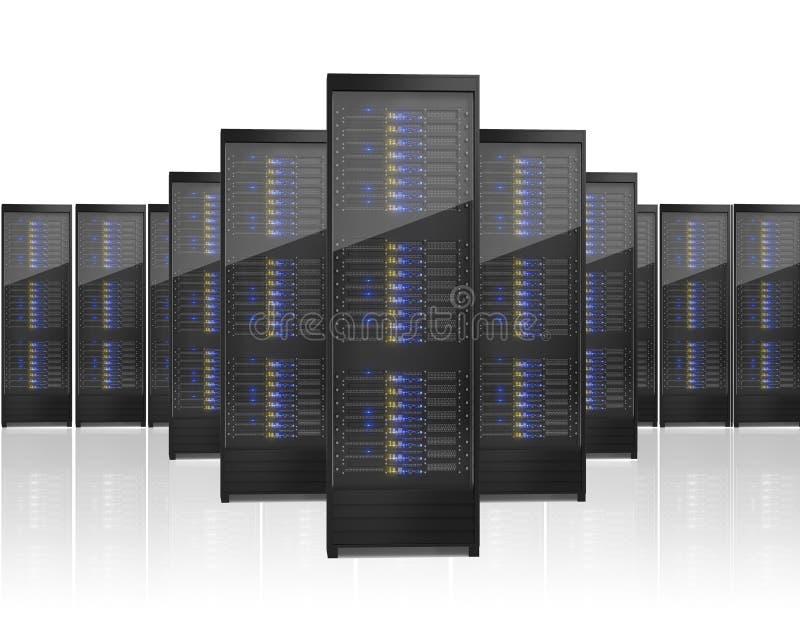 Wizerunek wiele serwerów stojaki ilustracji