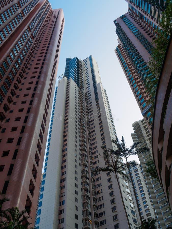 Wizerunek wiele wieżowowie typowi Hong Kong obrazy royalty free