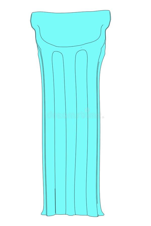 Wizerunek wodna leżanka royalty ilustracja