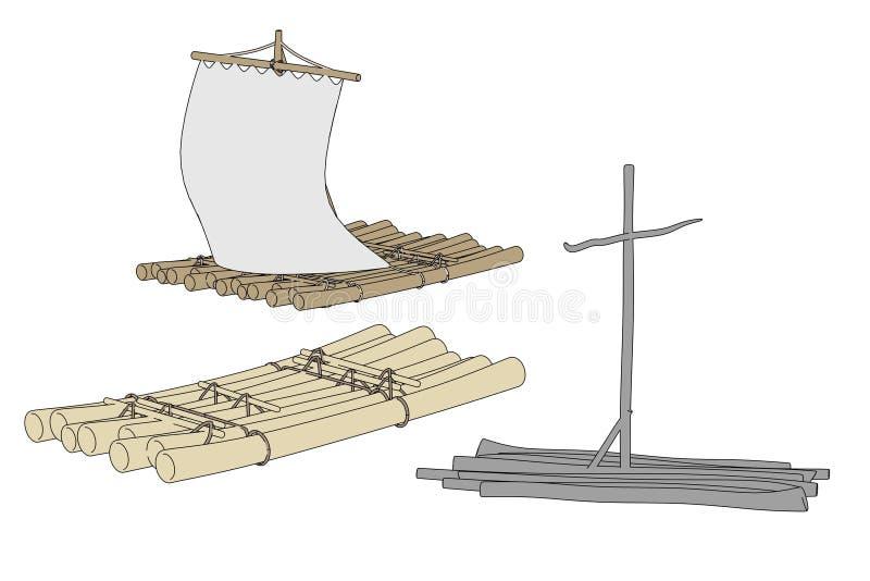 Wizerunek wodne tratwy royalty ilustracja