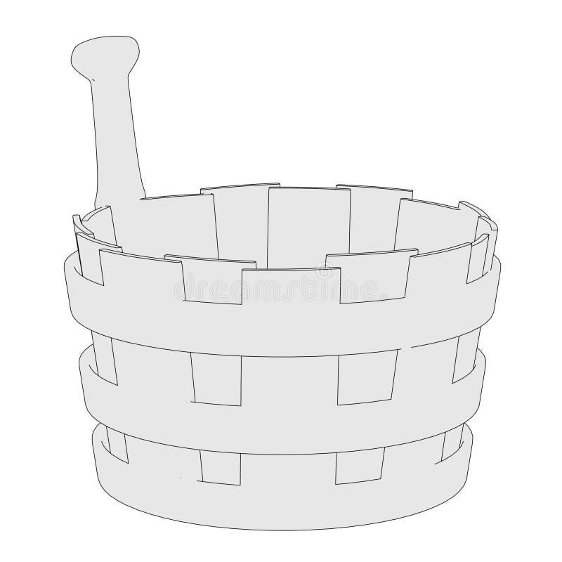 Wizerunek wodny wiadro ilustracja wektor