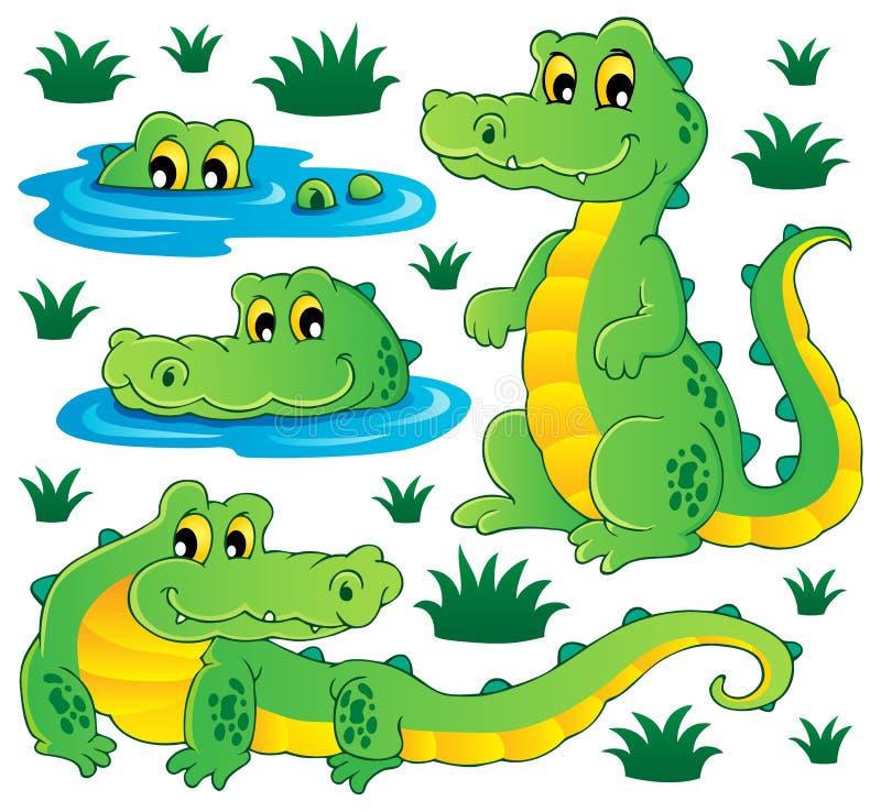 Wizerunek z krokodyla tematem 3 royalty ilustracja