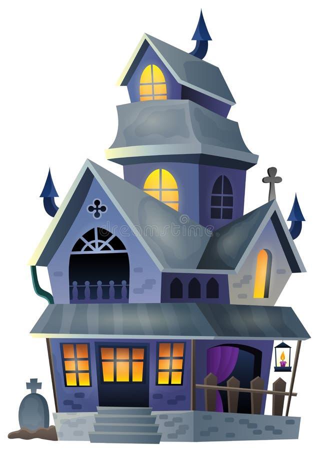 Wizerunek z nawiedzającym domowym thematics 1 ilustracja wektor