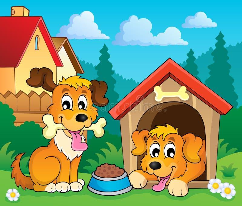 Wizerunek z psim tematem 3 ilustracja wektor