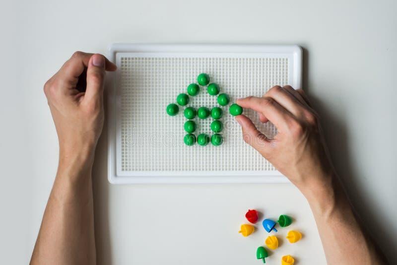 Wizerunek zawierający children mozaika dom zdjęcie stock