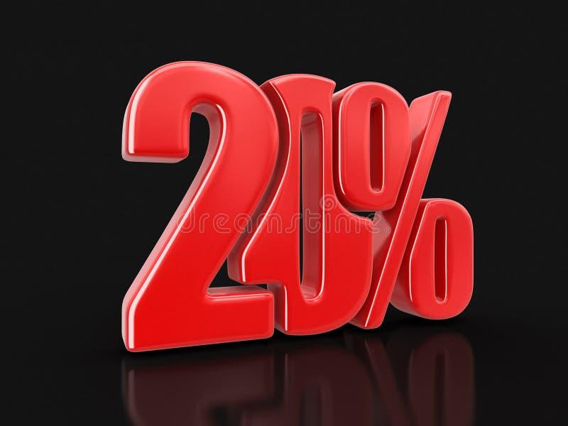 Wizerunek znak 20% ilustracji
