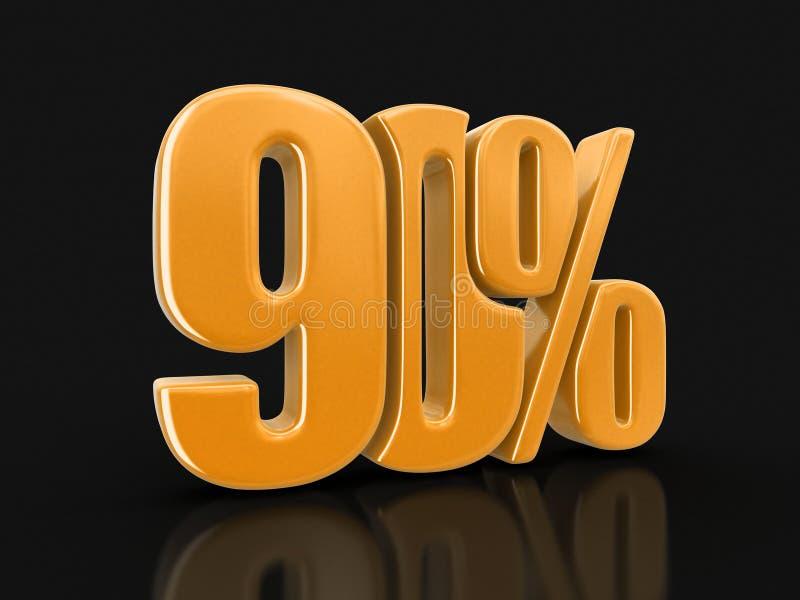Wizerunek znak 90% ilustracja wektor