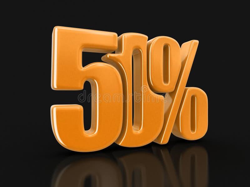 Wizerunek znak 50% ilustracja wektor