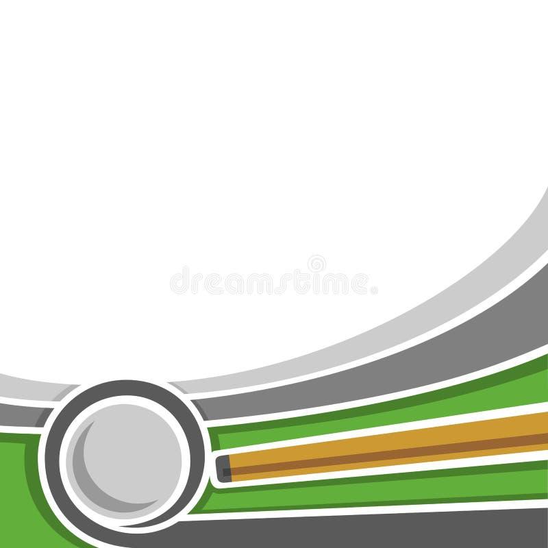Wizerunki dla teksta na temat bilardowego ilustracja wektor